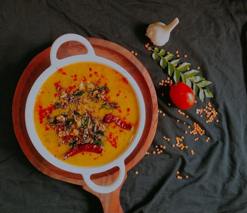 Tomato Garlic Masoor Dal
